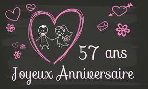 57 ans de mariage carte anniversaire mariage 57 ans tableau