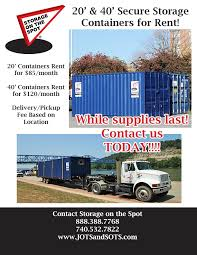 Rent Storage Container - storage on the spot offers storage container rentals to commercial