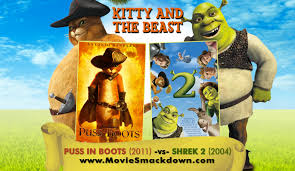 puss boots 2011 shrek 2 2004 movie smackdown