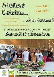 cours de cuisine essonne 13 décembre ateliers de cuisine à la ferme d armenon les