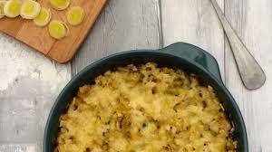 cuisiner les crozets gratin de crozets à la fondue de poireaux et beaufort recette par
