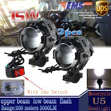 motorcycle shoes with lights motorcycle fog lights ebay