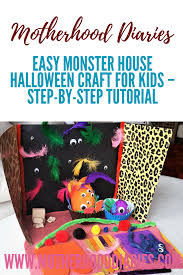 Halloween Monster House Easy Monster House Halloween Craft For Kids U2013 Step By Step Tutorial