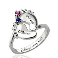 birthstone ring personalized birthstone rings for him and