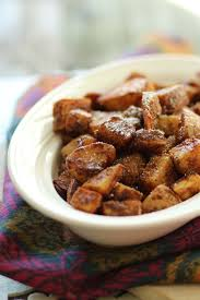 last minute thanksgiving cinnamon sugar sweet potatoes