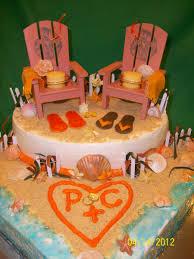 beach themed bridal shower cake cakecentral com