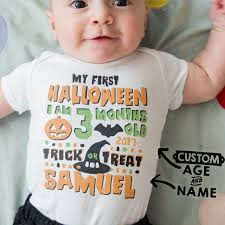 baby halloween onesies my first halloween customizable baby onesie name u0026 age cole