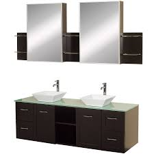 Bathroom Vanities With Vessel Sinks Shop Wyndham Collection Avara Espresso Double Vessel Sink Bathroom
