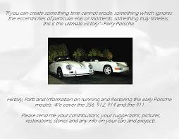 early porsche 911 parts porsche 356 911 provides information on buying restoring