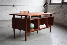 Mid Century Modern Desk Thunderous Kristiansen Mid Century Modern Teak Flickr