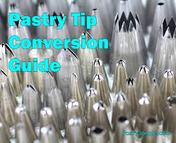 pastry tip conversions coverting different brands of tips cakes