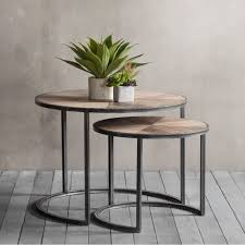 Modern Side Table Fulton Set Of 2 Nesting Coffee Tables Modern Side Tables