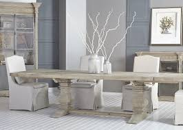 light wood dining room furniture salvaged wood gray rectangle dining table with trestle base