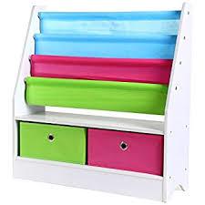 Bookcase For Boys Amazon Com Wonkawoo Deluxe Childrens Sling Bookshelf Kitchen