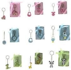 baby shower keychain favors 6pc baby shower keepsake keychain favors boy girl party