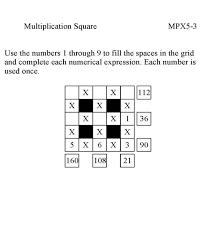 bluebonkers multiplication math puzzle game multiplication