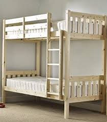 Pine Bunk Bed Length Bunkbed 85cm By 175cm Small Single Shaker