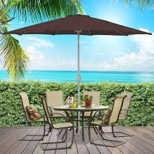 Albertsons Patio Set by Bcp 9 U0027 Aluminum Patio Market Umbrella Tilt W Crank Outdoor
