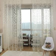 Washing Voile Curtains 2017 Modern Solid Sweet Embroidered Voile Curtains Floral Tulle