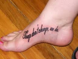 quote on foot tattoo map and quote tattoos on foot tattoes idea