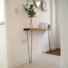 hairpin leg console table rustic narrow console table shelf with hairpin legs applecrates co uk