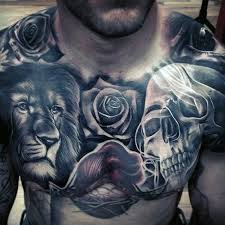70 lion chest tattoo designs for men fierce animal ink ideas