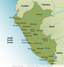 peru map tourist map of peru