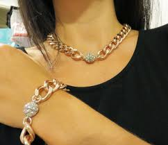 rose gold chain necklace images Thick chunky rose gold chain necklace and by cccrystalchain jpg
