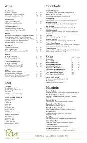 ponzu sushi and grill menu