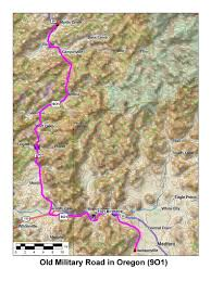 Map Of Southern Oregon by Historic Routes Paths Roads Trails Ca Or Wa
