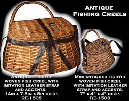 Hunting And Fishing Home Decor Fishing Creel Baskets Fishing Nets Hunting Gifts Gifts For