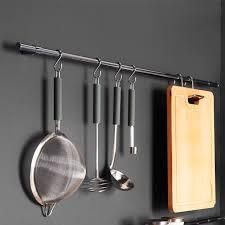 tringle de cuisine barre de crédence métal chromé crédence lapeyre et accessoires de