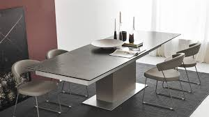 extending table savona glass extending dining table