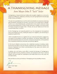 city of fort lauderdale fl city news a thanksgiving message