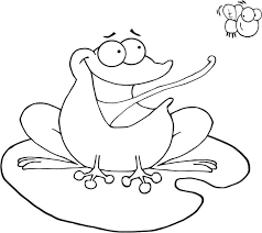 Frogs Coloring Pages Cartoon Leaping Frog Coloring Pages Frog Frog Colouring Page