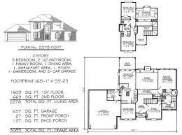 3 bedrooms 2 story under 2300 sq ft
