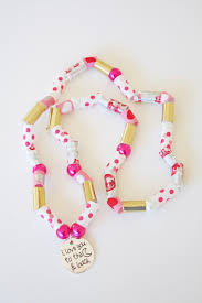 valentine jewelry kids craft diy washi tape beads ella and annie