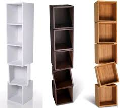 twisted wooden boxes work as wall shelves u0026 bookcases