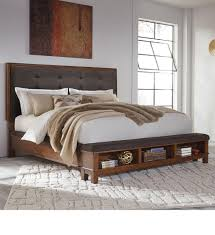 California King Bed Frame With Drawers Signature Design By Ashley Ralene California King Upholstered Bed