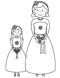 bridesmaid flower free printable coloring pages