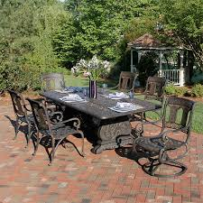 Cast Aluminum Patio Tables Cast Aluminum Patio Set Lime Garden