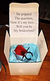 will you be my of honor ideas he popped the question bridesmaid ring pop idea free