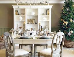 Simple Kitchen Table Decor Ideas Chairs Charming Dark Brown Christmas Table Decor Ideas With Red