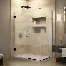 Satin Glass Shower Door by Dreamline Unidoor Plus 30 3 8 In X 47 In X 72 In Hinged Shower