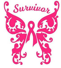 pink breast cancer awareness ribbon decal car window laptop vinyl
