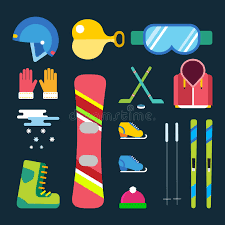 design clothes games for adults winter sport vector icons set game design ski snowboarding clothes