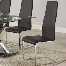 furniture fascinating faux dining chairs design black faux