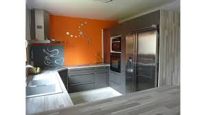 cuisine grise et orange modèle deco cuisine orange et gris orange kitchen and kitchens