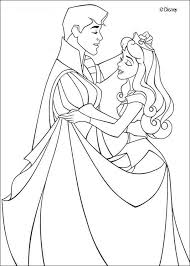 princess aurora prince philip dancing waltz coloring pages