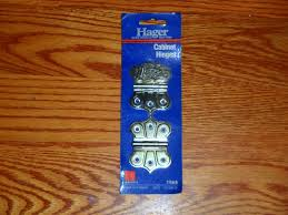 hager satin brass finish ornamental hinges cabinet hinges new